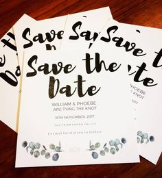 Save the Date in a thick bold modern font style