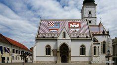 Kościół św. Marka w Zagrzebiu Więcej informacji o Chorwacji pod adresem http://www.chorwacja24.info/zdjecie/kosciol-sw-marka-w-zagrzebiu