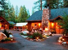 Evergreen Lodge just outside Yosemite - recommended by Michelle & Reuben.  Gets good reviews online from tripadvisor too