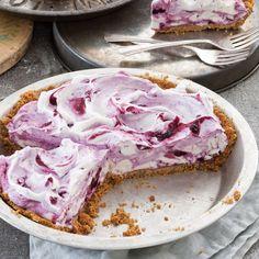 Frozen Blueberry Cream Pie Recipe - Taste of the South Magazine