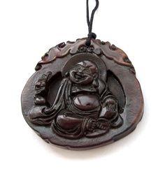 Tibet Bone Lucky Dragon Heart Amulet Pendant Talisman
