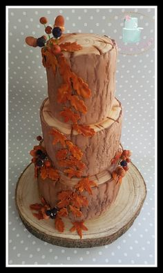For the love of Autumn ❤ I loved creating this wedding cake
