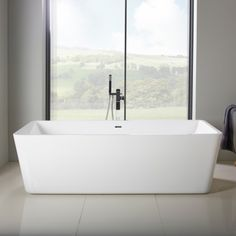 Highgrove Bathrooms AQUA Freestanding Corner Bath LHS - A seductive home with lush colors and double baths