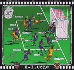 Levante UD, 0 - Villarreal CF, 3 - Uche, 0-3, min.88