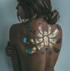 #tattoo #schiena #gold/ oro #amazing #elegante