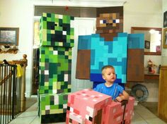 Hands down, the best Minecraft costumes I have seen!!!