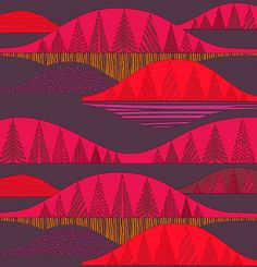 Kultakero fabric designed by Sanna Annukka for Marimekko via Design Sponge