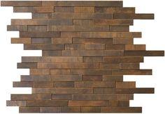 Antique Copper Tile Backsplash Random Linear Mosaic