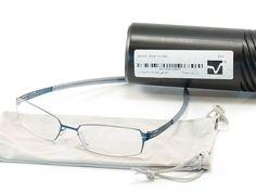 IC! Berlin Eyeglasses Frame Paxton Blue Stainless Steel Germany Made 52-17-125 #ICBerlin