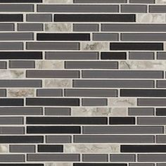 Chelsea Gray Glass Mosaic - 12 x 12 - 100417096 | Floor and Decor