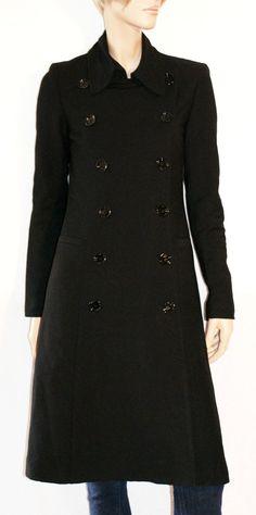 Wonderful Double-Breasted Wool Blended Woman Coat Size S GISEL Magnifico Cappotto Trench Donna Nero Doppiopetto Lungo Misto Lana Taglia S di BeHappieWorld su Etsy