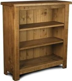 New Solid Wooden Bookcase Bookshelves Shelves Chunky Rustic Plank Pine Furniture Ebay
