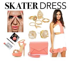 """""""Cutout Skater Dress"""" by nicole231 ❤ liked on Polyvore featuring ASOS, Mudd, Vince Camuto, Kate Spade, Dorothy Perkins and skaterdress"""
