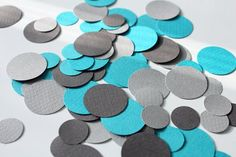turqoise and grey wedding | ... paillettes mix - turquoise and gray by inkcafe on Etsy, $3.50 #wedding