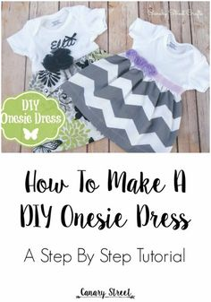 51 Things to Sew for Baby - DIY Onesie Dress - Cool Gifts For Baby, Easy Things To Sew And Sell, Quick Things To Sew For Baby, Easy Baby Sewing Projects For Beginners, Baby Items To Sew And Sell http://diyjoy.com/sewing-projects-for-baby