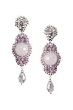 Beaded Earrings, Pearl Earrings, Swarovski, Brick Stitch, Jewellery Making, Messing, Bead Weaving, Beadwork, Diy Jewelry