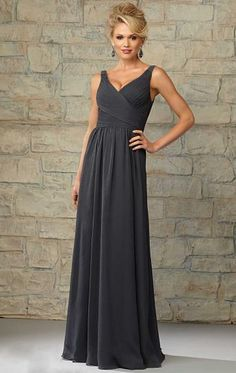 Unique Chiffon Grey Bridesmaid Dresses BNNCA0006-Bridesmaid UK