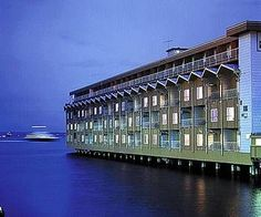 The Edgewater Hotel.  Not many hotels can boast that you can fish from your room. The Beatles stayed here.
