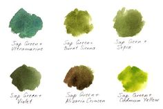 Tips for rich watercolor greens                                                                                                                                                      More