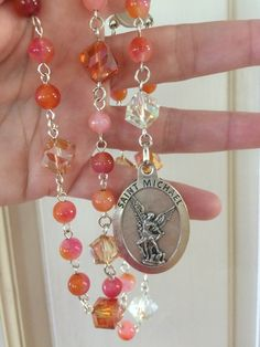 A personal favorite from my Etsy shop https://www.etsy.com/listing/466466259/jade-and-crystal-st-michael-chaplet