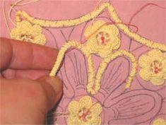 Romanian Point Lace and Irish Crochet combo. Tutorial.