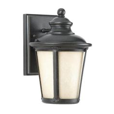 Sea Gull Lighting Cape May Collection 1-Light Outdoor Burled Iron Wall Lantern-88240D-780 - The Home Depot