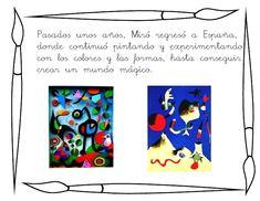 Conociendo a Miró. Joan Miro, My Arts, Diy, Creativity, Infant Activities, Art For Kids, Hand Art, Index Cards, Printables
