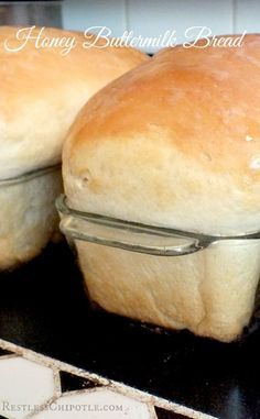 Even if you've never made yeast bread before you can make this big, soft, billowy loaves of honey buttermilk bread. Honey Buttermilk Bread, Homemade Buttermilk, Buttermilk Recipes, Homemade Breads, Yeast Bread, Bread Baking, Healthy Bread Recipes, Cooking Recipes, Bread Machine Recipes