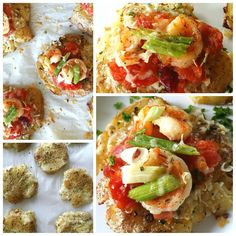 Potato seafood pizza bites...o la la.... the things you can do with potato.