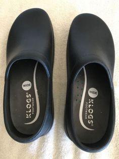 97ed8e62ce56 KLOGS Slip-On Black Rain Work Shoe Woman s Size 7W - NEW without box.  Valentino ShoesGucci ...
