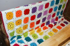 Kingsize Maybelle Flower Afghan Blanket which I made during October and finished today 28/11/13.