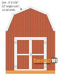 shed plans -gambrel shed – front back roof trim - Modern 10x12 Shed Plans, Lean To Shed Plans, Storage Shed Kits, Diy Storage, Small Storage, Roof Trim, Shed Makeover, Backyard Makeover, Shed Construction