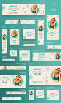 The Promo package includes a huge collection of templates, designed for effective presentation of your business. Package of business cards, posters and flyers Web Design, Web Banner Design, Email Design, Print Design, Display Banners, Display Ads, Google Banner, Banner Design Inspiration, Summer Banner