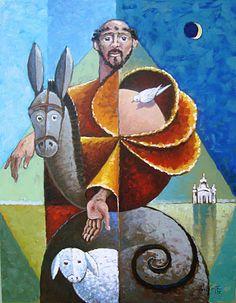 Dibujos para catequesis san francisco de as s con los for Art mural nivelles