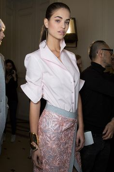 Alexis Mabille Fall 2015 Backstage