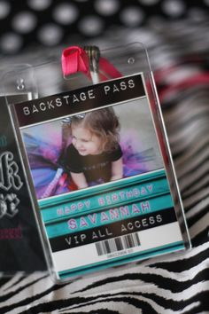 Party like a rock star backstage pass