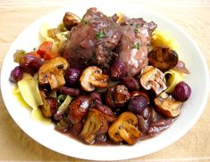 High Protein, Low Cal Recipe -- Red Wine Chicken & Mushrooms, 215 calories/23g protein