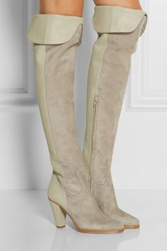 Chloé ❤ ❤ ❤ Leather Over The Knee Boots 754a06899946
