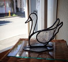 Stained glass swan Stained Glass Birds, Stained Glass Panels, Stained Glass Patterns, Tiffany Glass, Dew Drops, Bird Patterns, Glass Animals, Wishbone Chair, Bird Feathers