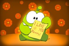 """""""Cut The Rope"""": Cute Om Nom Greeting Cards by ZeptoLab"""