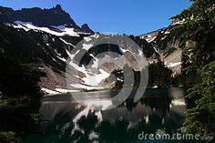 Snow lake inn Mount Rainer National park in Washington State.