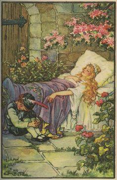 Sleeping Beauty -- G. M. Burd -- Fairytale Illustration