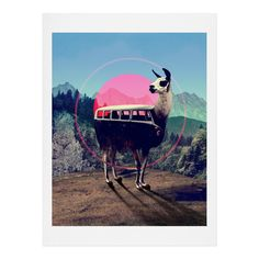 Ali Gulec Llama Van Art Print | DENY Designs Home Accessories