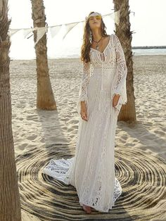 Pretty Sexy Lace Solid Color Short Sleeve Deep V Neck Side S.- Pretty Sexy Lace Solid Color Short Sleeve Deep V Neck Side Split Maxi Dress Pretty Sexy Lace Solid Color Short Sleeve Deep V Neck Side Split Maxi – chicboho - Maxi Dress Wedding, Floral Maxi Dress, Maxi Dresses, Dress Lace, Wedding Outfits, Beach Dresses, Long Dresses, White Dress, Evening Dresses With Sleeves