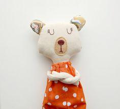 Natural bear - Soft teddy bear - Stuffed bear - Cloth teddy bear - Plush bear - Soft toys - Plushie - Softie animal
