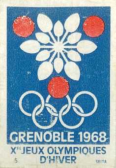 Olympic Winter Games 1968 Grenoble (matchbox)