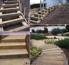 Holzkasten für DIY Gartentreppe
