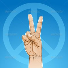 Peace Sign #GraphicRiver Vector illustration of a hand in peace sign. This image is a vector illustration and can be scaled to any size without loss of resolution. Included are a .eps and hires jpeg file. You will need a vector editor such as Adobe Illustrator or Coreldraw to use this file. Each object are grouped and background are on separate layer for easy editing. All works were created in adobe illustrator. Created: 26March11 GraphicsFilesIncluded: VectorEPS #AIIllustrator Layered: No…
