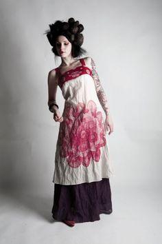 laika summer 09 mandala tunic + boa skirt
