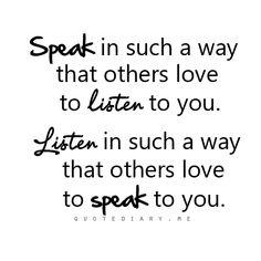 #Speak #Listen